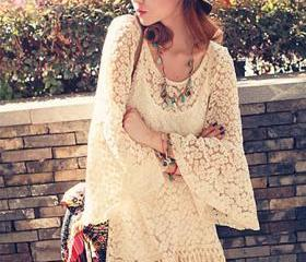 Vintage Floral Lace Mini Dress With Vest